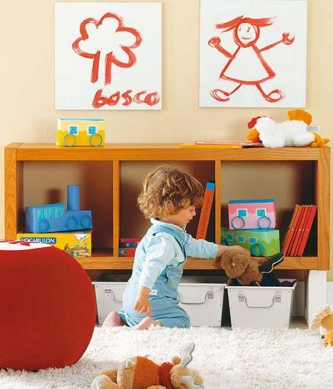 Room, Toy, Interior design, Baby toys, Shelving, Stuffed toy, Shelf, Interior design, Doll, Wall sticker,
