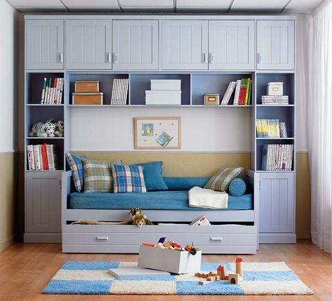 Wood, Blue, Room, Interior design, Shelf, Shelving, Wall, Home, White, Furniture,