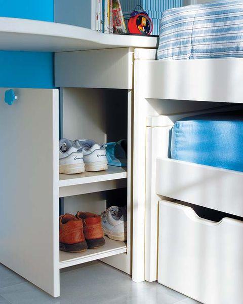Shelf, Room, Shelving, Turquoise, Cupboard, Aqua, Teal, Major appliance, Cabinetry, Kitchen appliance,
