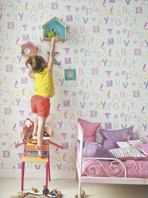 Papel pintado letras infantil