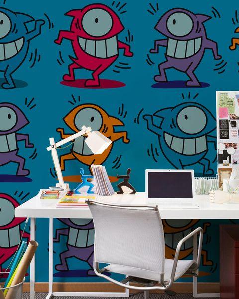 Papel pintado efecto grafiti El Pez