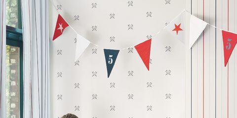Interior design, Red, Room, Carmine, Interior design, Design, Wallpaper, Coquelicot, Wall sticker,