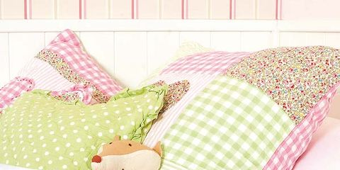 Textile, Pattern, Pink, Linens, Bedding, Magenta, Baby & toddler clothing, Peach, Bed sheet, Creative arts,
