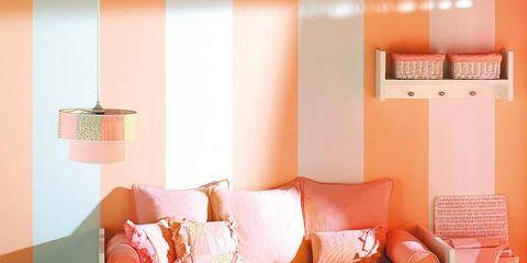Room, Interior design, Brown, Wood, Yellow, Orange, Floor, Furniture, Wall, Flooring,