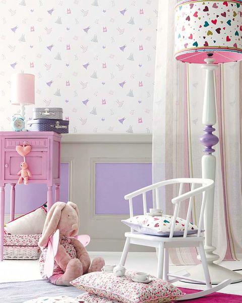 Room, Interior design, Pink, Purple, Interior design, Lampshade, Lamp, Magenta, Lavender, Lighting accessory,
