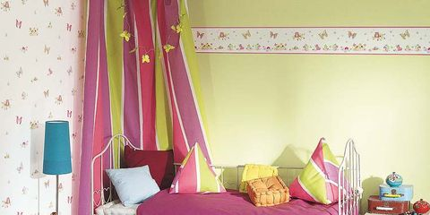 Room, Interior design, Textile, Purple, Pink, Magenta, Bedroom, Bedding, Linens, Flooring,