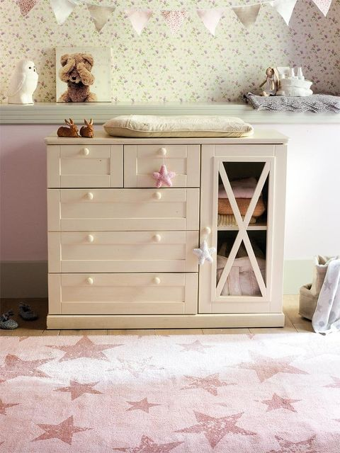 Wood, Room, Floor, White, Interior design, Pink, Drawer, Wall, Cabinetry, Flooring,