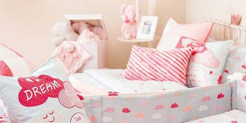 Product, Bedding, Pink, Furniture, Bed sheet, Bed, Room, Infant bed, Textile, Linens,
