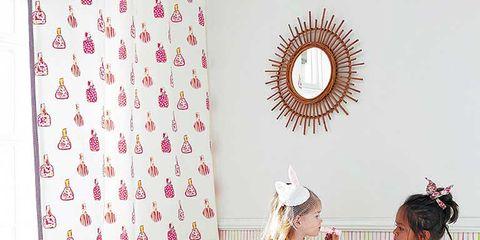Human body, Room, Pink, Pattern, Interior design, Interior design, Wallpaper, Design, Circle, Peach,