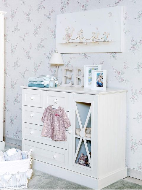 Furniture, Room, Shelf, Product, Pink, Wall, Table, Changing table, Chest of drawers, Drawer,