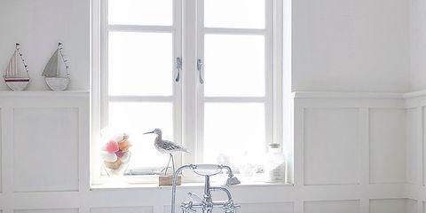 Plumbing fixture, Blue, Room, Window, Property, Interior design, Floor, Tap, Wall, Architecture,