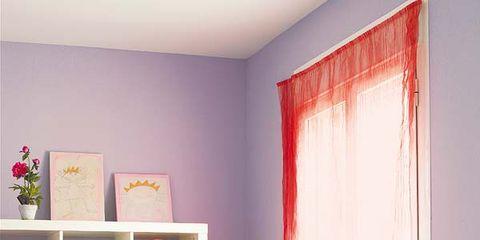 Room, Interior design, Furniture, Pink, Interior design, Office equipment, Table, Magenta, Shelf, Shelving,