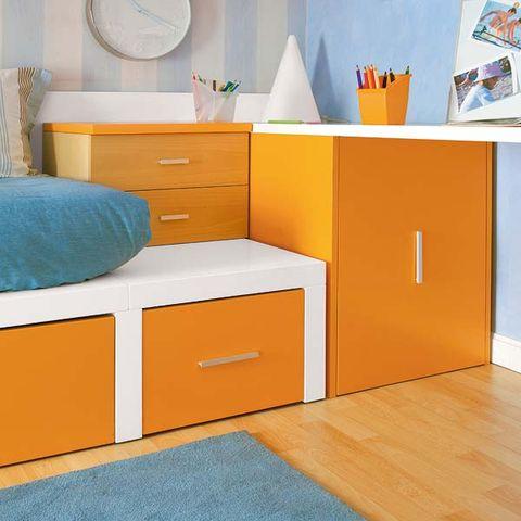Blue, Wood, Room, Interior design, Drawer, Floor, Wall, White, Flooring, Furniture,