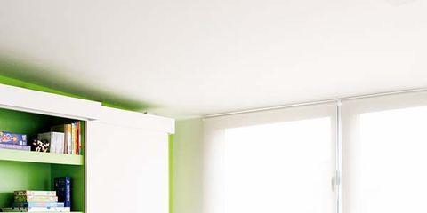 Room, Green, Floor, Interior design, Child, Flooring, Home, Shelf, Shelving, Toddler,