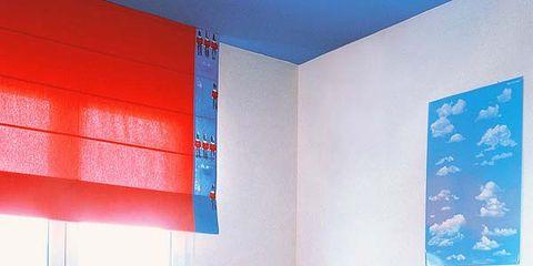 Un Dormitorio Juvenil En Rojo Y Azul - Paredes-pintadas-de-azul
