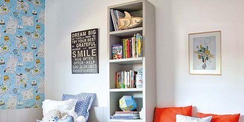Blue, Room, Interior design, Wall, Textile, Home, Furniture, Floor, Aqua, Teal,