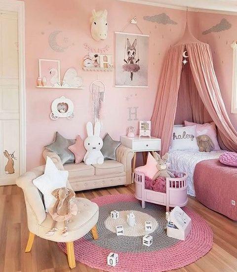 hermosos diseños de pared de dormitorio Pon Unicornios En Su Dormitorio