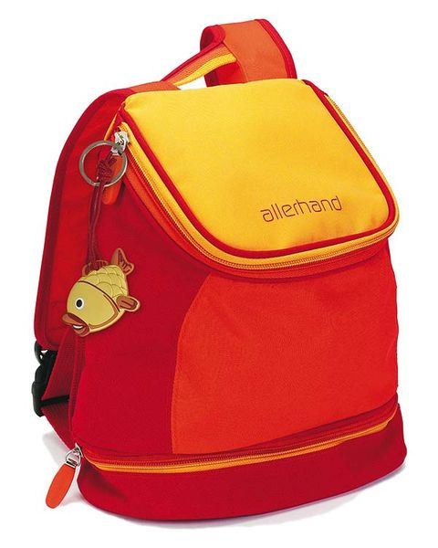 Yellow, Red, Orange, Bag, Maroon, Costume accessory, Luggage and bags, Backpack, Coquelicot, Shoulder bag,