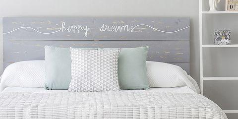 Product, Textile, Room, Wall, Bedding, Linens, Bedroom, Font, Shelf, Teal,
