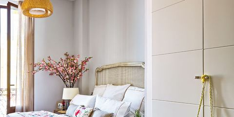 Room, Interior design, Yellow, Property, Textile, Wall, Floor, Home, Flooring, Bedding,