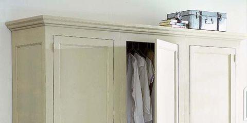 Wardrobe, Cupboard, Door, Home door, Cabinetry, Molding, Handle, Closet, Door handle,