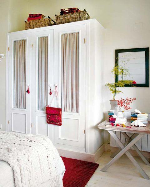 Room, Interior design, Textile, Red, Table, Floor, Home, Interior design, Fixture, Door,