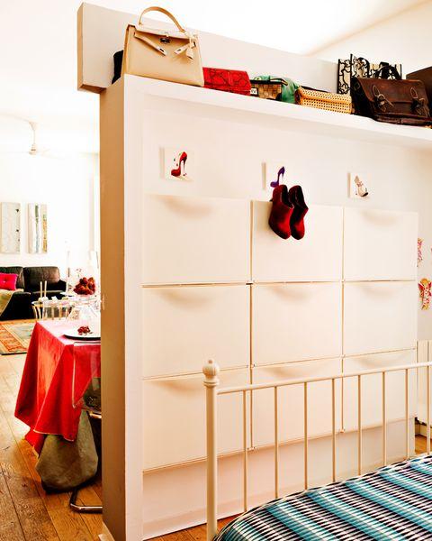 módulos zapateros en el dormitorio
