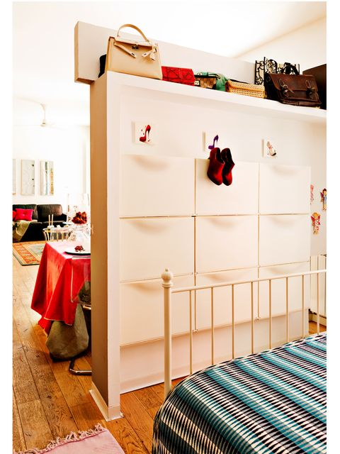 Furniture, Room, Red, Product, Bed, Chest of drawers, Changing table, Bedroom, Interior design, Shelf,
