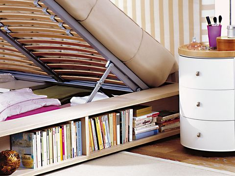 Room, Cabinetry, Chest of drawers, Publication, Shelving, Shelf, Tan, Drawer, Material property, Book,