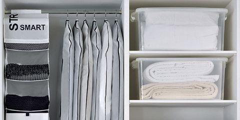 Room, Shelving, Shelf, Grey, Collection, Shoe organizer, Rectangle, Wardrobe, Clothes hanger, Silver,