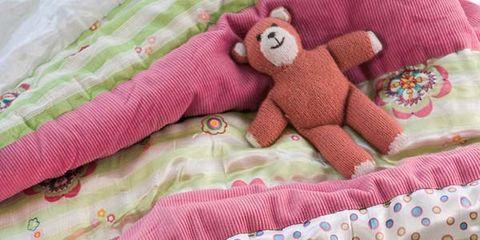 Textile, Pattern, Pink, Linens, Magenta, Creative arts, Stuffed toy, Peach, Craft, Pattern,