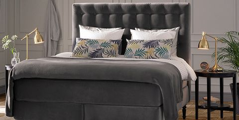 Furniture, Bed, Bed frame, Bedroom, Room, Couch, studio couch, Interior design, Nightstand, Mattress,