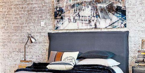 Furniture, Wall, Bedroom, Bed, Room, Bed frame, Interior design, Bedding, Wallpaper, Bed sheet,