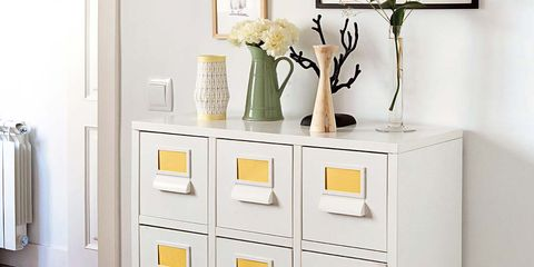 Room, Product, White, Drawer, Wall, Floor, Chest of drawers, Interior design, Cabinetry, Grey,