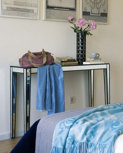 Blue, Room, Textile, Interior design, Linens, Purple, Bedding, Teal, Lavender, Azure,
