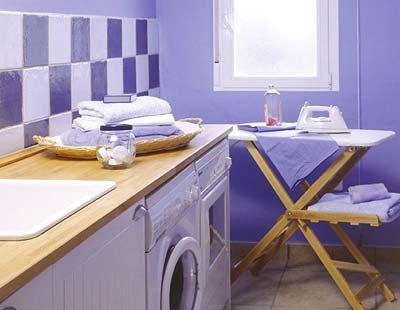 Room, Interior design, Property, White, Wall, Plumbing fixture, Floor, Cabinetry, Sink, Purple,