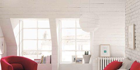 Room, Interior design, Textile, Floor, Wall, Red, Bed, Furniture, Bedding, Bedroom,
