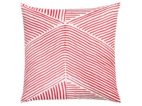 Pillow, Line, Throw pillow, Cushion, Orange, Pattern, Home accessories, Rectangle, Linens, Undergarment,