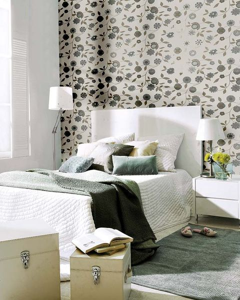 Interior design, Room, Textile, Wall, Linens, Home, Bedding, Furniture, Bedroom, Bed sheet,