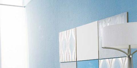 Room, Textile, Interior design, Wall, Linens, Glass, Bedding, Pillow, Aqua, Cushion,