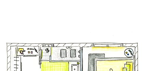 Yellow, Line, Plan, Rectangle, Parallel, Schematic, Artwork, Illustration, Drawing, Diagram,