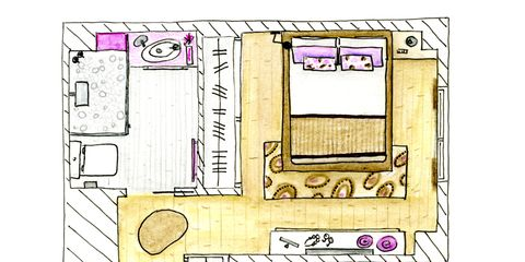 Purple, Magenta, Parallel, Lavender, Rectangle, Plan, Drawing, Schematic, Square,