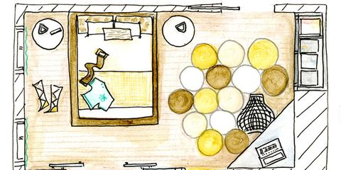 Yellow, Line, Artwork, Parallel, Rectangle, Illustration, Circle, Drawing, Painting, Still life,
