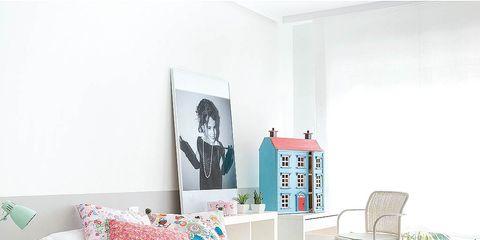 Room, Green, Interior design, Textile, Bedding, Bed sheet, Linens, Furniture, Bedroom, Pink,