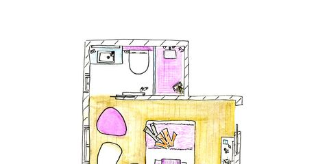Line, Magenta, Purple, Rectangle, Plan, Illustration, Drawing, Household appliance accessory, Diagram, Sewing machine,