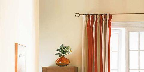 Wood, Room, Interior design, Window, Wall, Textile, Orange, Home, Living room, Interior design,