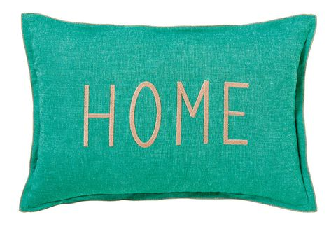 Green, Pillow, Turquoise, Aqua, Throw pillow, Text, Teal, Furniture, Font, Cushion,