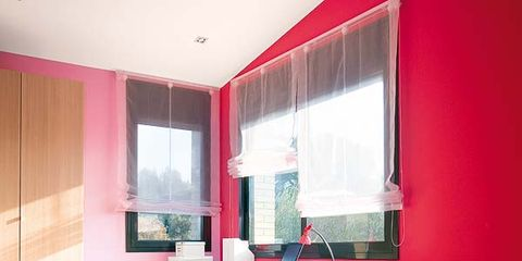 Room, Interior design, Property, Floor, Red, Bed, Textile, Bedding, Wall, Linens,