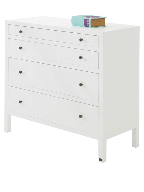 Chest of drawers, Drawer, Furniture, White, Dresser, Chiffonier, Product, Changing table, Material property, Chest,
