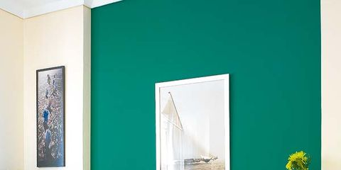 Room, Green, Bed, Yellow, Interior design, Wall, Property, Bedding, Textile, Bed sheet,
